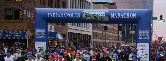 Indianapolis Monumental Marathon start