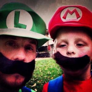 My nephew and I dressed as Mario and Luigi for Halloween. I told him I would do it. He kept me to my word.